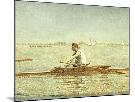 John Biglin in a Single Scull-Thomas Cowperthwait Eakins-Mounted Giclee Print