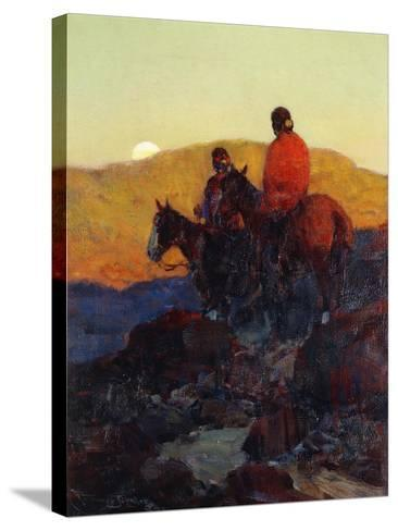Sunset Glow-Frank Tenney Johnson-Stretched Canvas Print