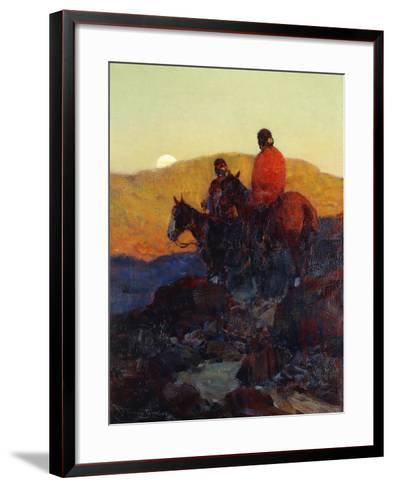 Sunset Glow-Frank Tenney Johnson-Framed Art Print