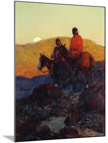Sunset Glow-Frank Tenney Johnson-Mounted Giclee Print
