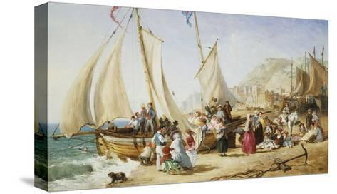 A Day Trip, Ramsgate-William Parrott-Stretched Canvas Print