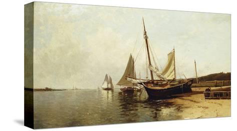 Calm Morning, Portland Harbor-Alfred Thompson Bricher-Stretched Canvas Print