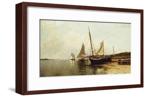 Calm Morning, Portland Harbor-Alfred Thompson Bricher-Framed Art Print
