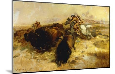 Buffalo Hunt-Charles Marion		 Russell-Mounted Giclee Print