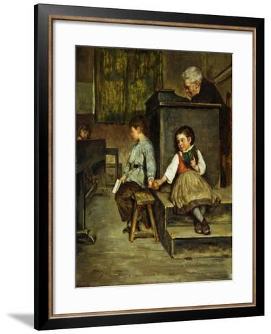 The Classroom-Henry Bacon-Framed Art Print
