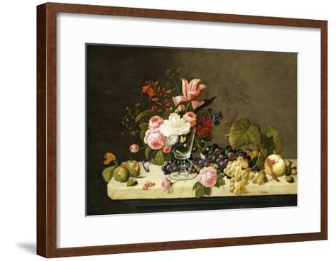 Flowers and Fruit-Severin Roesen-Framed Art Print