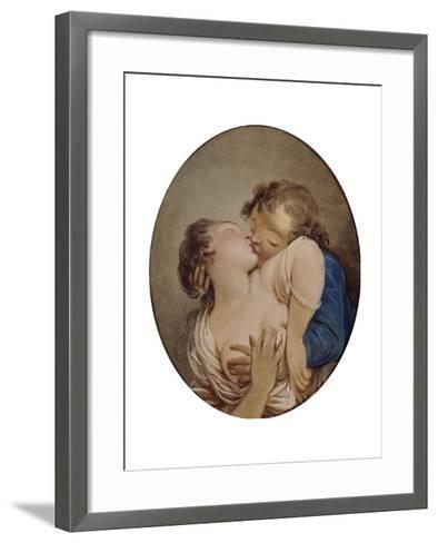 Young Lovers-Jean-Honor? Fragonard-Framed Art Print