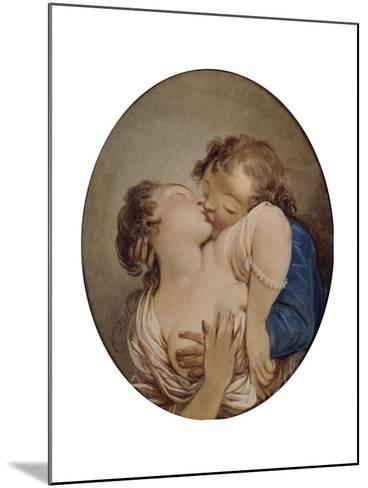 Young Lovers-Jean-Honor? Fragonard-Mounted Giclee Print