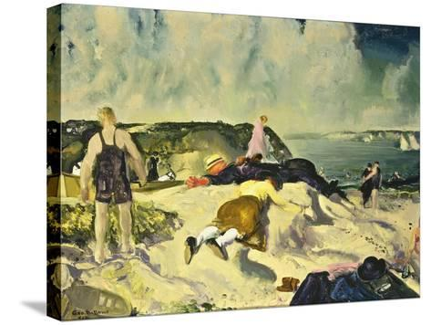 The Beach, Newport-George Wesley Bellows-Stretched Canvas Print