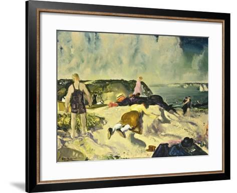 The Beach, Newport-George Wesley Bellows-Framed Art Print
