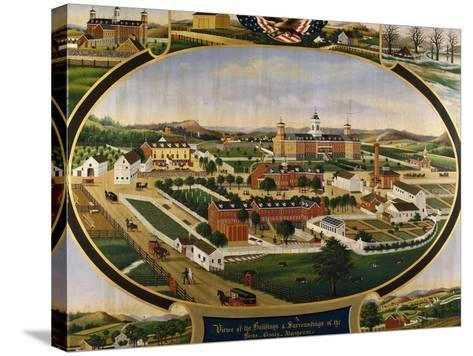 Views of the Buildings and Surroundings of the Berks County Almshouse-Rasmussen John		-Stretched Canvas Print