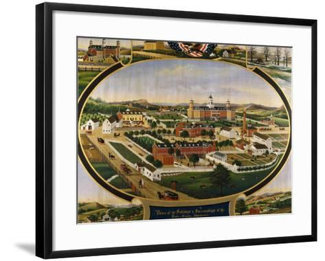 Views of the Buildings and Surroundings of the Berks County Almshouse-Rasmussen John		-Framed Art Print