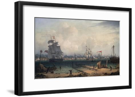 View of Liverpool, from Cheshire-Robert Salmon-Framed Art Print