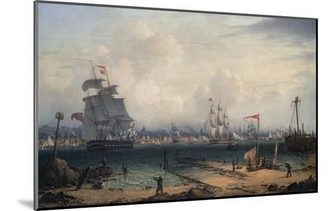 View of Liverpool, from Cheshire-Robert Salmon-Mounted Giclee Print