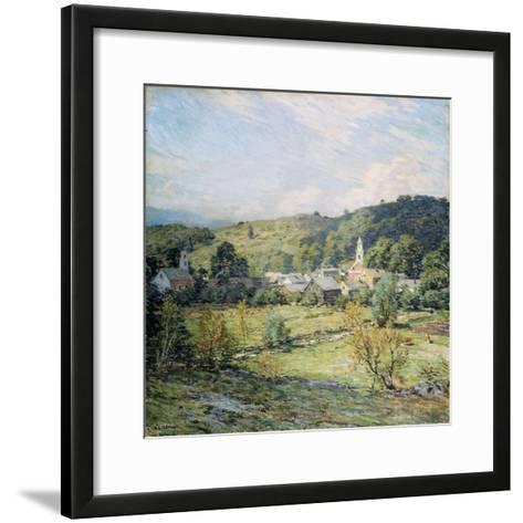 September Morning, Plainfield, New Hampshire-Willard Leroy Metcalf-Framed Art Print