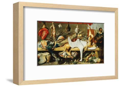 A Butcher's Stall with Cats and Kittens playing and a Butcher holding a Boar's Head-Frans		 Snyders-Framed Art Print