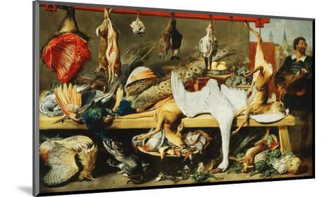 A Butcher's Stall with Cats and Kittens playing and a Butcher holding a Boar's Head-Frans		 Snyders-Mounted Giclee Print