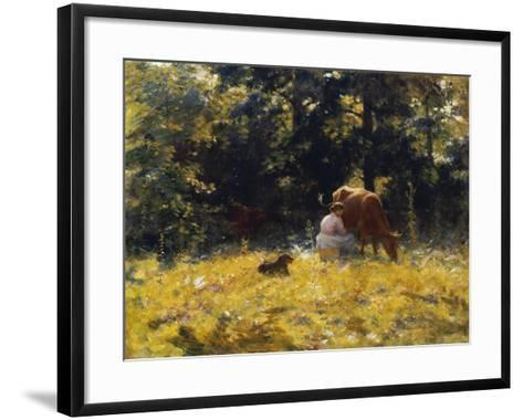 Milking Time-Charles Courtney Curran-Framed Art Print