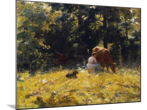 Milking Time-Charles Courtney Curran-Mounted Giclee Print