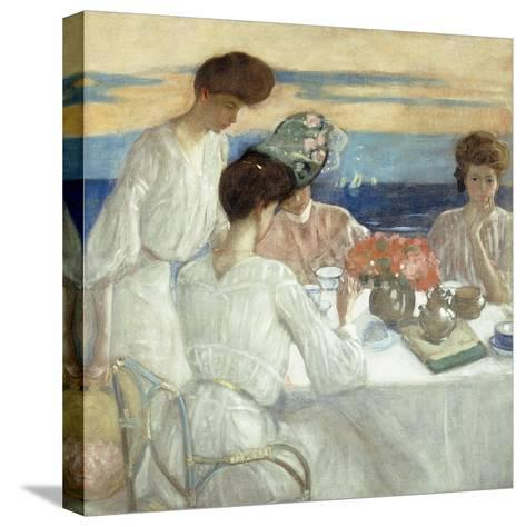 Afternoon Tea on the Terrace-Frederick Carl Frieseke-Stretched Canvas Print