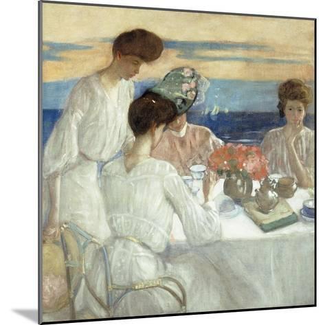 Afternoon Tea on the Terrace-Frederick Carl Frieseke-Mounted Giclee Print
