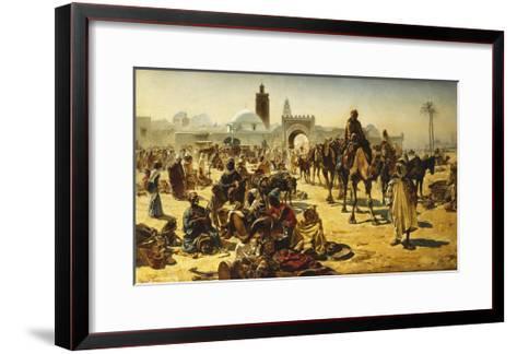 An Arab Slave Market-Ferencz-Franz Eisenhut-Framed Art Print