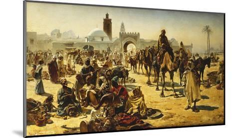 An Arab Slave Market-Ferencz-Franz Eisenhut-Mounted Giclee Print