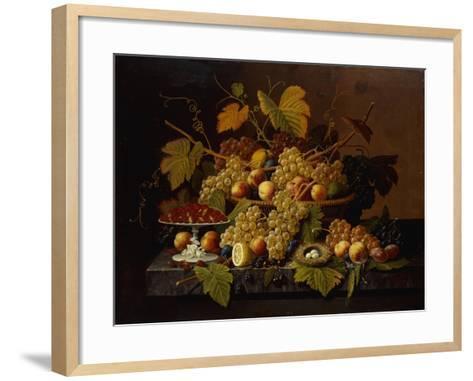 Still Life with Fruit-Severin Roesen-Framed Art Print