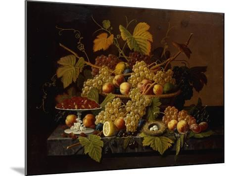 Still Life with Fruit-Severin Roesen-Mounted Giclee Print