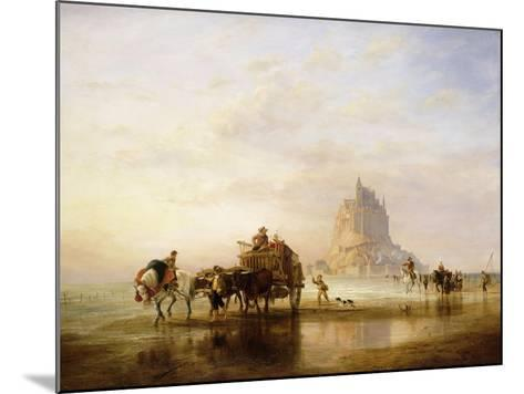 Mont St. Michel, Peasants returning to Pontorson on the approach of the Tide-Edward William Cooke-Mounted Giclee Print