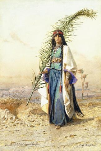 Fadimeh, The Daughter of Aghile Agha-Carl		 Haag-Stretched Canvas Print