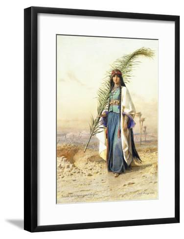 Fadimeh, The Daughter of Aghile Agha-Carl		 Haag-Framed Art Print