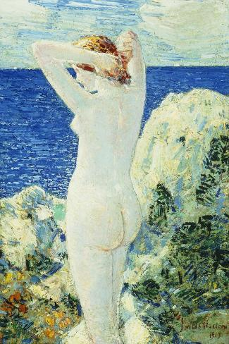 The Bather-Childe Hassam-Stretched Canvas Print