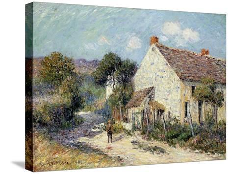 Landscape of Seine-et-Oise-Gustave Loiseau-Stretched Canvas Print