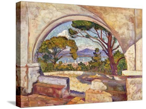 Saint Tropez, Vue de la Chapelle St. Anne-Theo Rysselberghe-Stretched Canvas Print