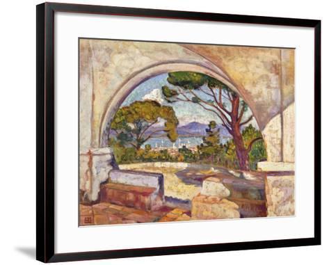 Saint Tropez, Vue de la Chapelle St. Anne-Theo Rysselberghe-Framed Art Print