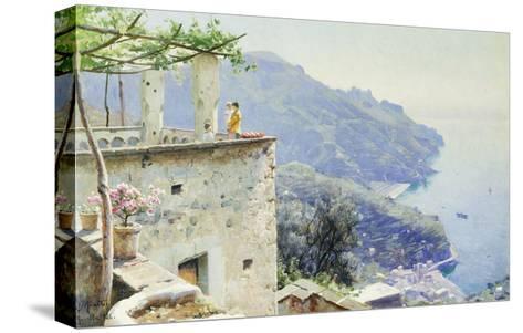 The Ravello Coastline-Peder Mork Monsted-Stretched Canvas Print