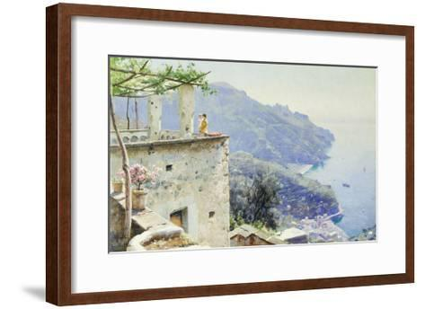 The Ravello Coastline-Peder Mork Monsted-Framed Art Print