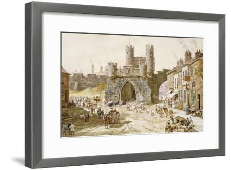 Walgate Bar, York-Louise Rayner-Framed Art Print