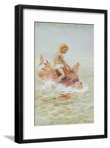 Riding Sea Monsters-Hector Caffieri-Framed Art Print
