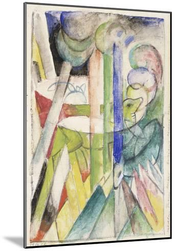 Mountain Goat-Franz Marc-Mounted Giclee Print