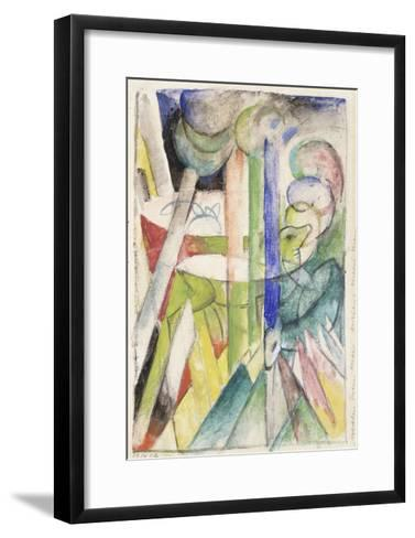 Mountain Goat-Franz Marc-Framed Art Print