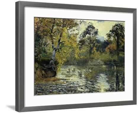 The Pond at Montfoucault-Camille Pissarro-Framed Art Print