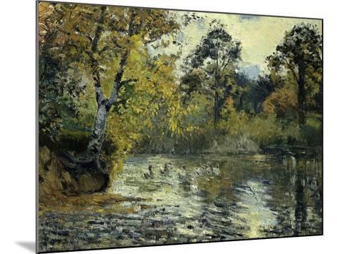 The Pond at Montfoucault-Camille Pissarro-Mounted Giclee Print