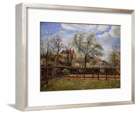Pear Tree and Flowers in Eragny, Morning-Camille Pissarro-Framed Art Print