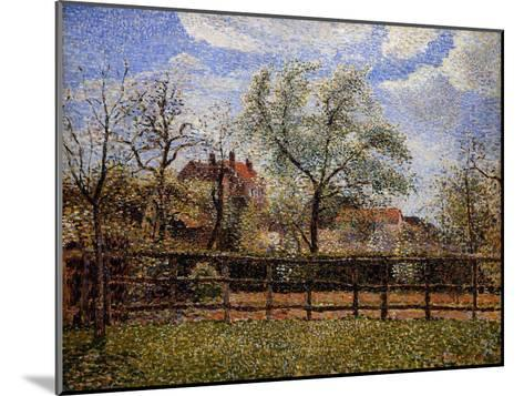 Pear Tree and Flowers in Eragny, Morning-Camille Pissarro-Mounted Giclee Print