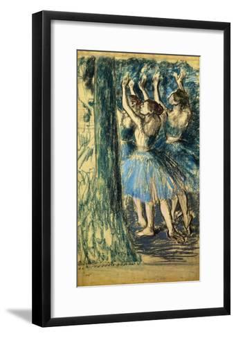 Dancers in the Scene-Edgar Degas-Framed Art Print
