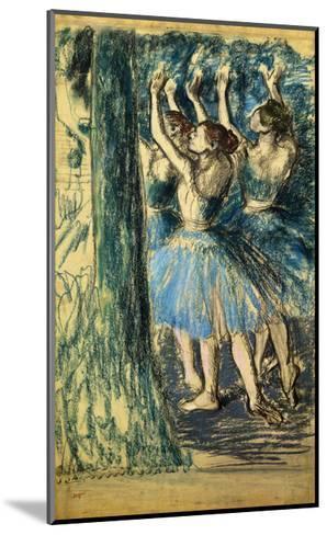 Dancers in the Scene-Edgar Degas-Mounted Giclee Print