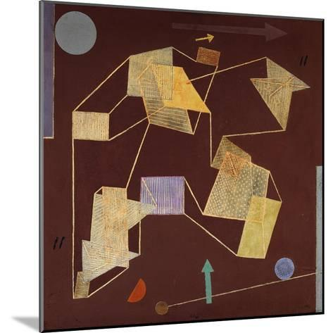 Buoyancy and Displacement (Soaring)-Paul Klee-Mounted Giclee Print