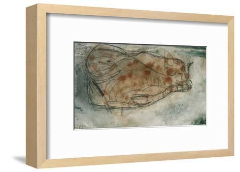 Sleeping Cat-Paul Klee-Framed Art Print